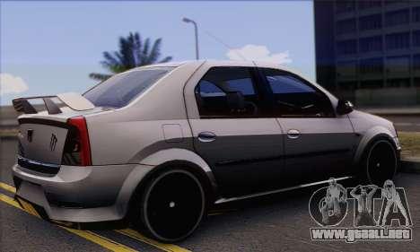 Dacia Logan Hoonigan Edition para GTA San Andreas left