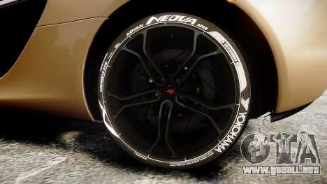 McLaren 650S Spider 2014 [EPM] Yokohama ADVAN v2 para GTA 4 vista hacia atrás