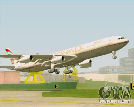 Airbus A340-313 Etihad Airways para GTA San Andreas interior