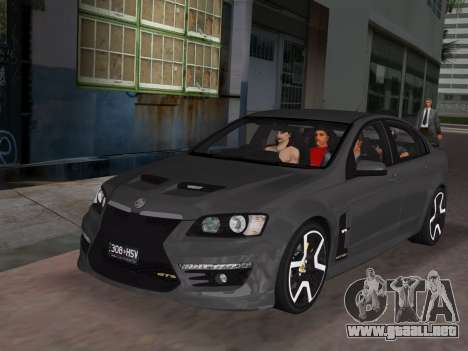 Holden HSV GTS 2011 para GTA Vice City interior