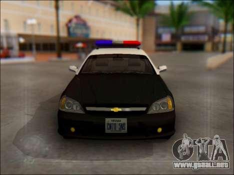 Chevrolet Evanda Police para la vista superior GTA San Andreas