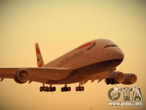 Airbus A380-800 British Airways para GTA San Andreas left