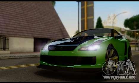 GTA V Elegy RH8 Twin-Turbo (IVF) para GTA San Andreas vista posterior izquierda
