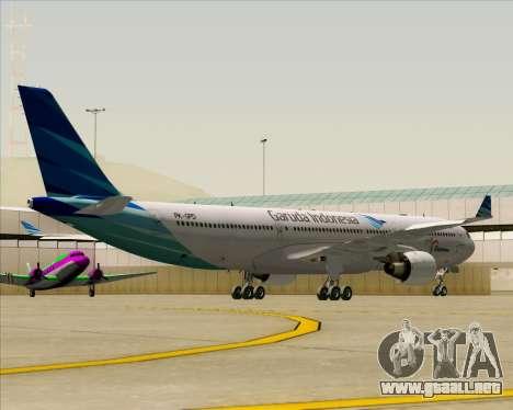 Airbus A330-300 Garuda Indonesia para vista lateral GTA San Andreas