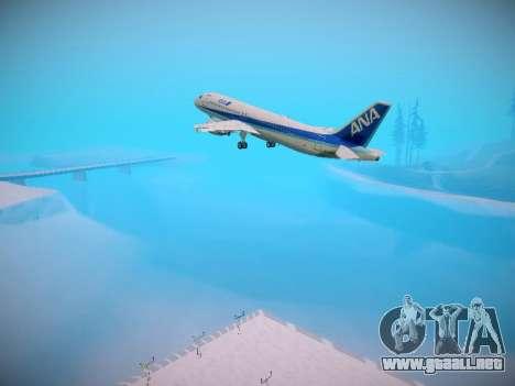 Airbus A320-211 All Nippon Airways para las ruedas de GTA San Andreas
