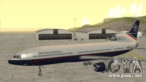 Lockheed L1011 Tristar British Airways para GTA San Andreas