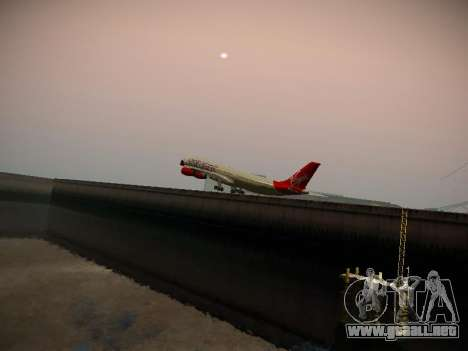 Airbus A340-300 Virgin Atlantic para la vista superior GTA San Andreas