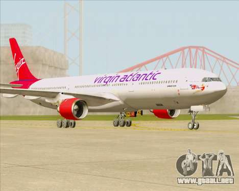 Airbus A330-300 Virgin Atlantic Airways para GTA San Andreas left