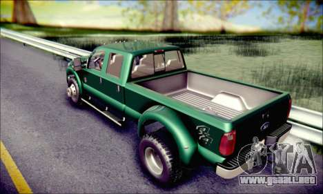 Ford F450 Super Duty 2013 HD para visión interna GTA San Andreas
