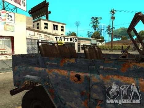 La policía UAZ de Stalker para GTA San Andreas vista hacia atrás