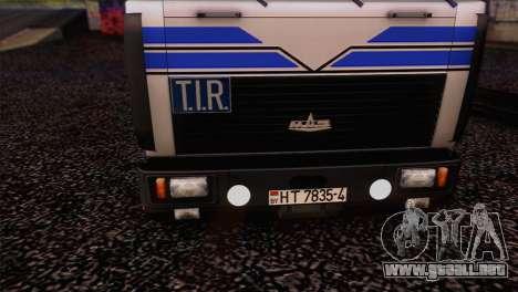 MAZ 642208 para la visión correcta GTA San Andreas