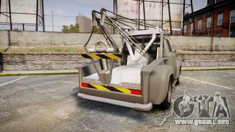 Vapid Tow Truck Jackrabbit para GTA 4 Vista posterior izquierda
