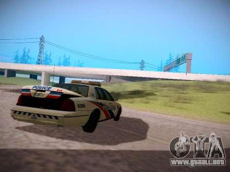 Ford Crown Victoria Toronto Police Service para la visión correcta GTA San Andreas