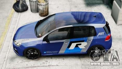 Volkswagen Golf R 2010 ABT Paintjob para GTA 4 Vista posterior izquierda