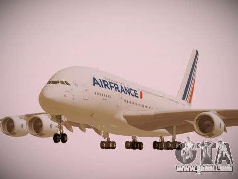 Airbus A380-800 Air France para vista lateral GTA San Andreas
