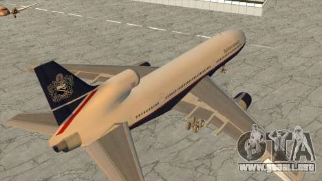 Lockheed L1011 Tristar British Airways para GTA San Andreas left