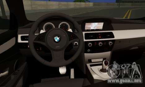 BMW M5 E60 Stance Works para GTA San Andreas vista posterior izquierda