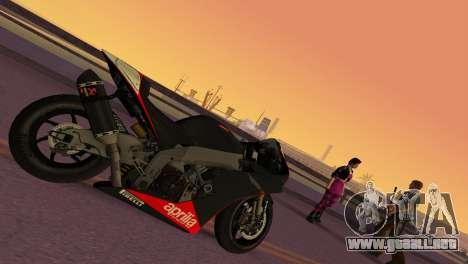 Aprilia RSV4 2009 Edition I para GTA Vice City left