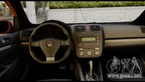 Volkswagen Golf V GTI para GTA San Andreas vista posterior izquierda