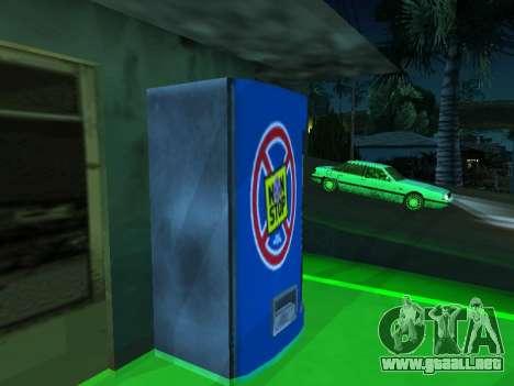 La máquina con la bebida Sin Dejar de Stalker para GTA San Andreas segunda pantalla