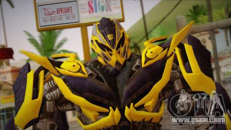 Bumblebee v1 para GTA San Andreas tercera pantalla