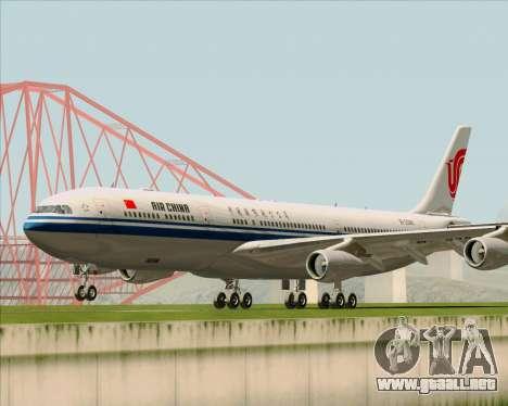 Airbus A340-313 Air China para GTA San Andreas left