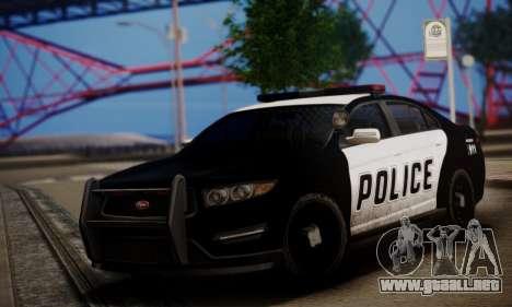Vapid Police Interceptor from GTA V para GTA San Andreas left