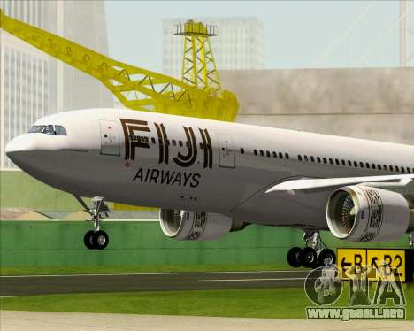 Airbus A330-200 Fiji Airways para GTA San Andreas interior