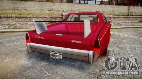 Albany Buccaneer Modified para GTA 4 Vista posterior izquierda