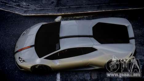 Lamborghini Huracan LP850-4 2014 Wheelsandmore para GTA 4 Vista posterior izquierda