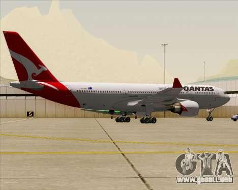Airbus A330-200 Qantas para GTA San Andreas vista hacia atrás