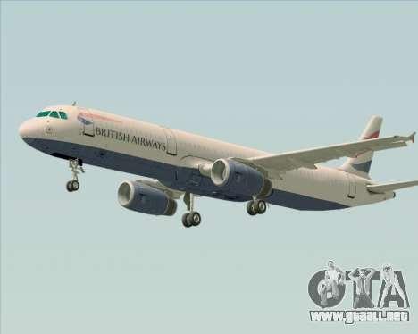 Airbus A321-200 British Airways para visión interna GTA San Andreas