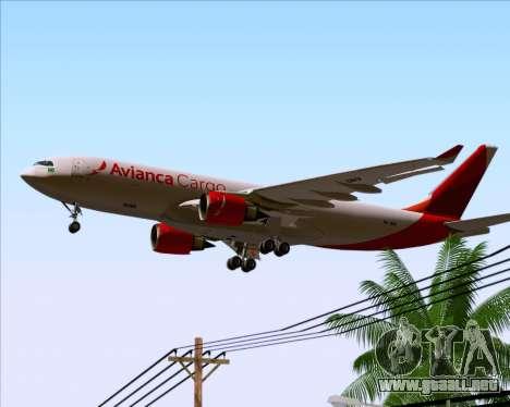 Airbus A330-243F Avianca Cargo para el motor de GTA San Andreas