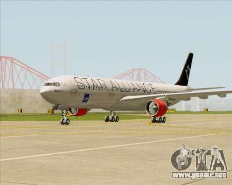 Airbus A330-300 SAS (Star Alliance Livery) para GTA San Andreas left