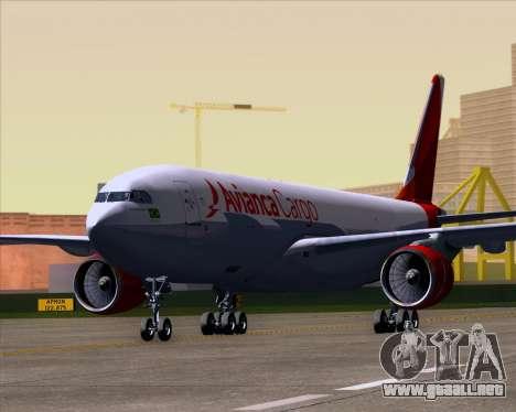Airbus A330-243F Avianca Cargo para GTA San Andreas left