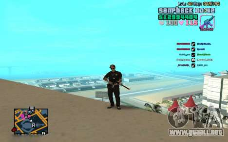 C-HUD GTA Vice City edited SampHack para GTA San Andreas segunda pantalla