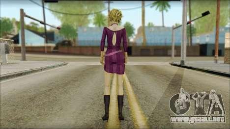 Vivian from Wolf Among Us para GTA San Andreas segunda pantalla