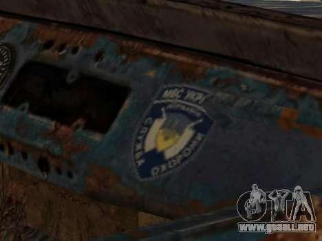 La policía UAZ de Stalker para la visión correcta GTA San Andreas
