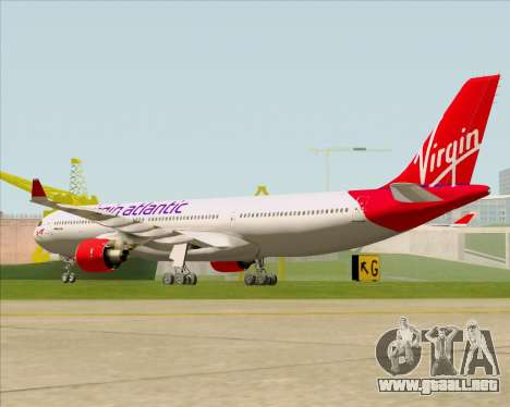Airbus A330-300 Virgin Atlantic Airways para la visión correcta GTA San Andreas