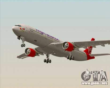 Airbus A330-300 Virgin Atlantic Airways para GTA San Andreas vista hacia atrás