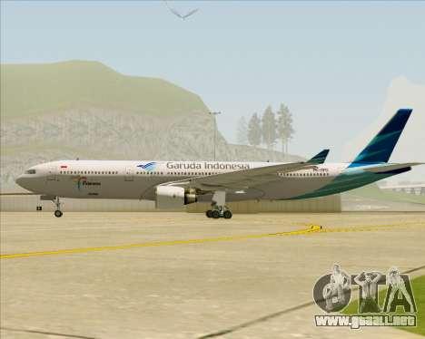Airbus A330-300 Garuda Indonesia para visión interna GTA San Andreas