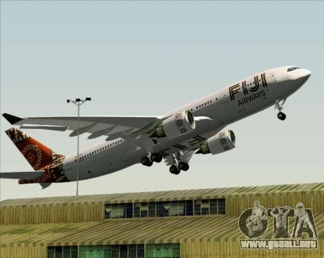 Airbus A330-200 Fiji Airways para vista inferior GTA San Andreas