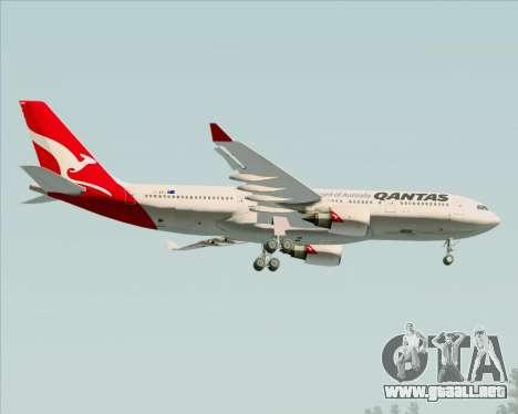 Airbus A330-200 Qantas para la vista superior GTA San Andreas