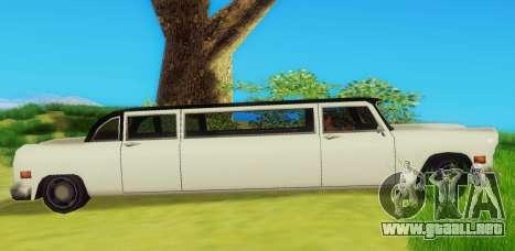 Cabbie Limousine para GTA San Andreas vista posterior izquierda