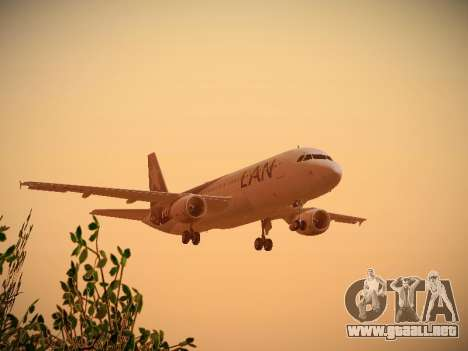 Airbus A320-214 LAN Airlines 100th Plane para vista inferior GTA San Andreas