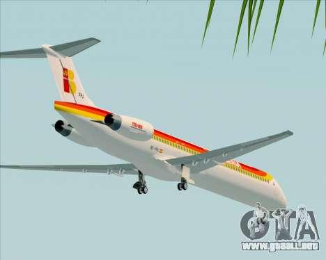 McDonnell Douglas MD-82 Iberia para la vista superior GTA San Andreas