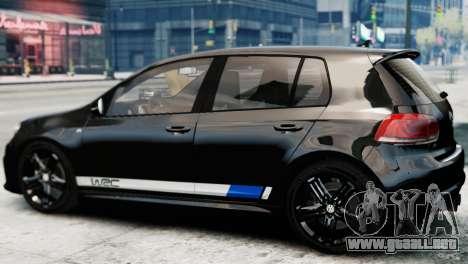 Volkswagen Golf R 2010 Polo WRC Style PJ1 para GTA 4 left