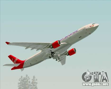 Airbus A330-300 Virgin Atlantic Airways para la vista superior GTA San Andreas