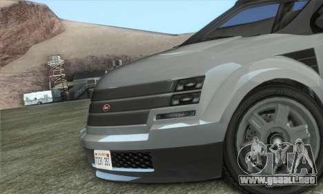 Vapid Radius 1.0 (HQLM) para GTA San Andreas vista posterior izquierda