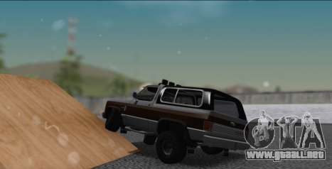 Chevrolet Blazer K5 para GTA San Andreas left
